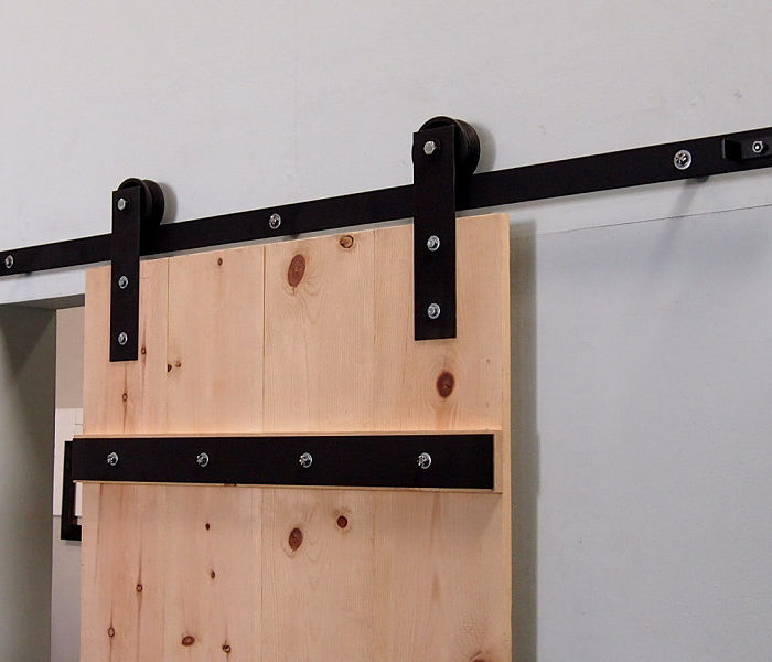 Double sliding door hardware canada discount barn door for Dual track barn door hardware