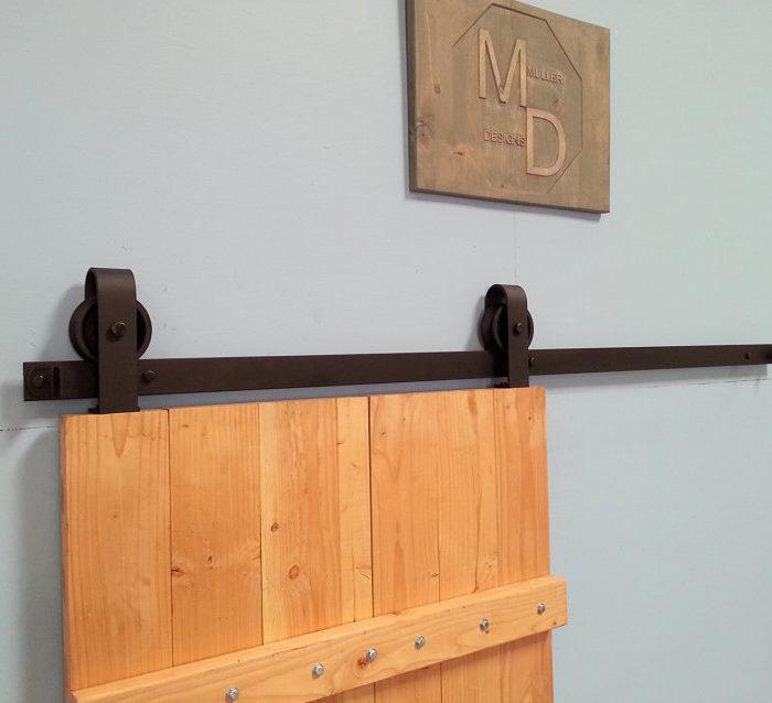 Vintage Top Mount Barn Door Hardware