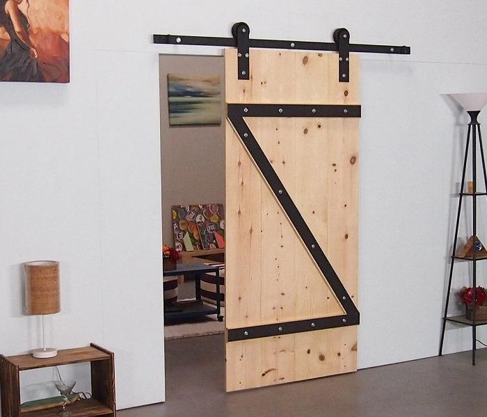 Industrial Strap Barn Door Hardware