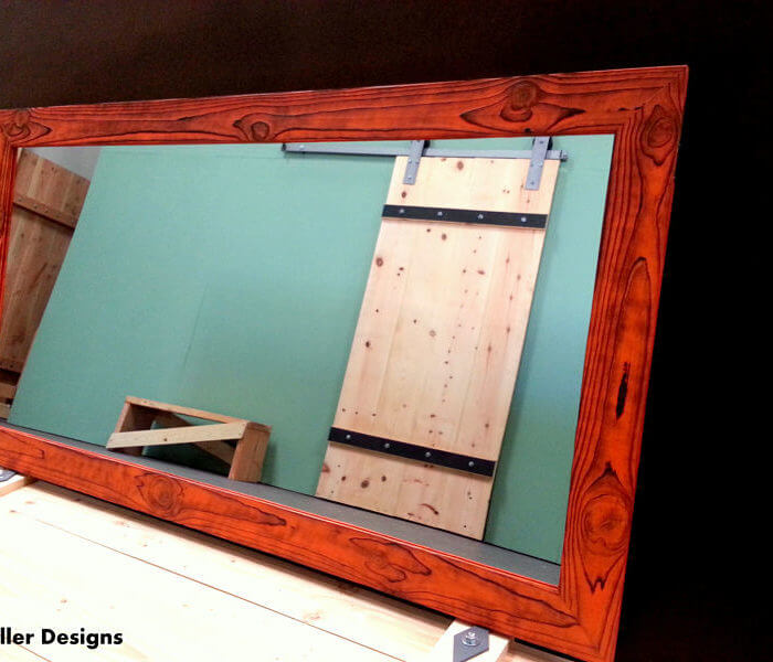 Bathroom vanity mirror Orange