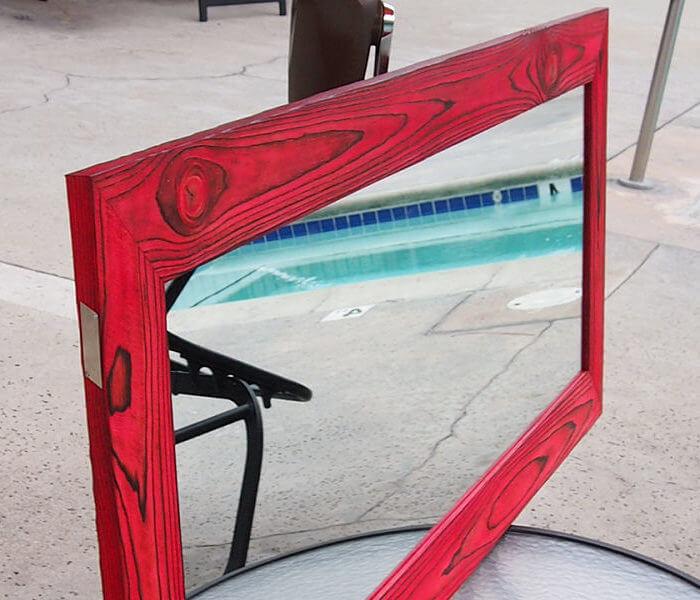 Bathroom vanity mirror Heart Red