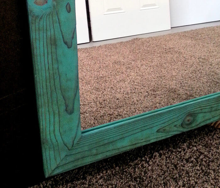 Bathroom vanity mirror Turquoise