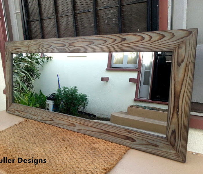 Gray Wood Mirror