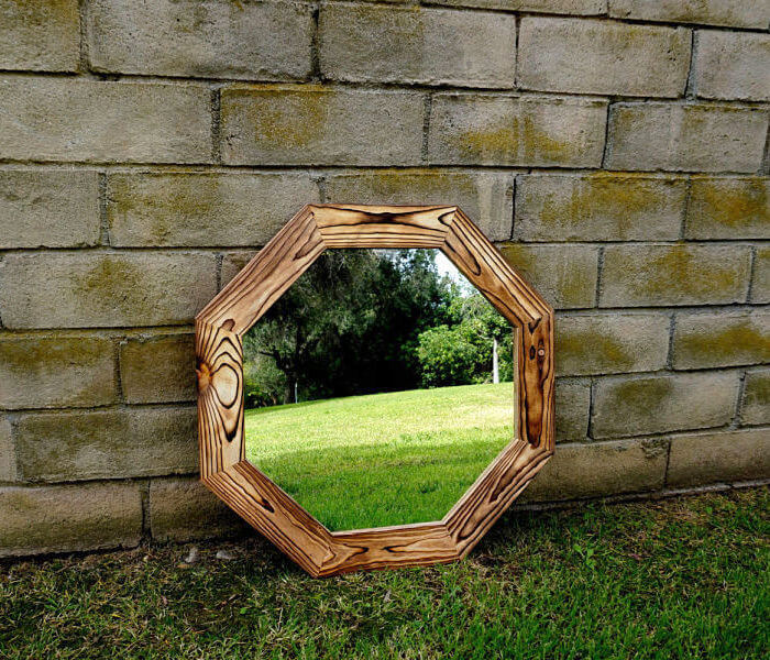 Bathroom vanity mirror Octagonal