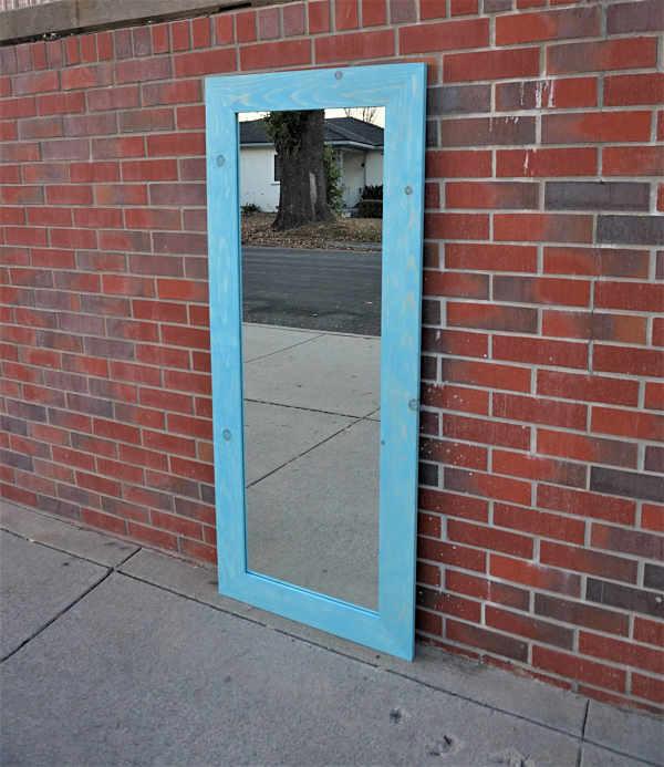 Vintage aqua  Mirror